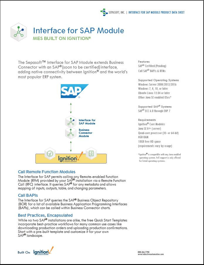 Interface for SAP