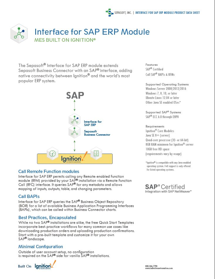 2020 SAP ERP Page One Graphic